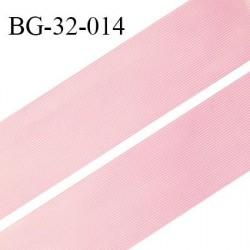 Droit fil a plat 32 mm spécial lingerie et couture du prêt à porter couleur rose grande marque fabriqué en France prix au mètre