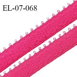 Elastique 7 mm bretelle et lingerie couleur rose bengale largeur 7 mm haut de gamme Fabriqué en France prix au mètre
