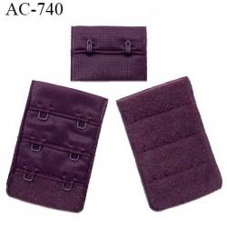 Agrafe 38 mm attache SG haut de gamme couleur iris 3 rangées 2 crochets fabriqué en France prix à l'unité