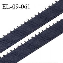 Elastique 9 mm bretelle et lingerie couleur bleu denim largeur 9 mm haut de gamme Fabriqué en France prix au mètre