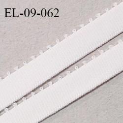 Elastique 9 mm bretelle et lingerie couleur blanc cassé (talc) largeur 9 mm haut de gamme Fabriqué en France prix au mètre