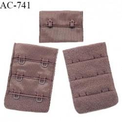 Agrafe 38 mm attache SG haut de gamme couleur macchiato 3 rangées 2 crochets fabriqué en France prix à l'unité