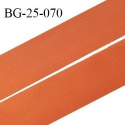 Droit fil à plat 26 mm spécial lingerie et prêt à porter couleur orange cuivrée grande marque fabriqué en France prix au mètre