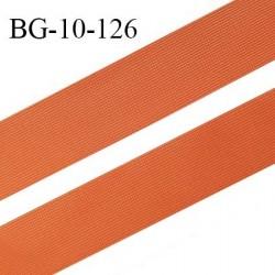 Droit fil à plat 10 mm spécial lingerie et prêt à porter couleur orange cuivrée grande marque fabriqué en France prix au mètre