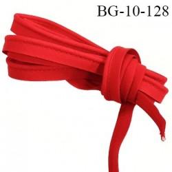 Passepoil 10 mm couleur rouge largeur 10 mm  lien coton intérieur 2 mm  largeur 10 mm  prix du mètre