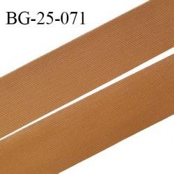 Droit fil à plat 26 mm spécial lingerie et prêt à porter couleur havane grande marque fabriqué en France prix au mètre