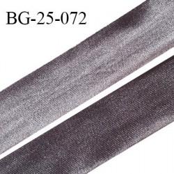 Droit fil à plat 26 mm spécial lingerie et prêt à porter couleur titane effet satiné fabriqué en France prix au mètre