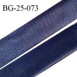 Droit fil à plat 25 mm spécial lingerie et prêt à porter couleur bleu nuit effet satiné fabriqué en France prix au mètre