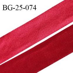 Droit fil à plat 25 mm spécial lingerie et prêt à porter couleur rouge effet satiné fabriqué en France prix au mètre