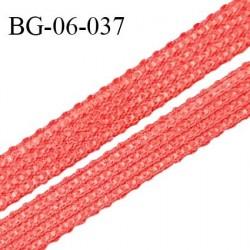Droit fil à plat 6 mm spécial lingerie et prêt-à-porter couleur rouge flamingo grande marque fabriqué en France prix au mètre