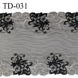 Dentelle broderie sur tulle 29 cm très haut de gamme largeur 29 cm couleur noir très belle prix pour 10 cm