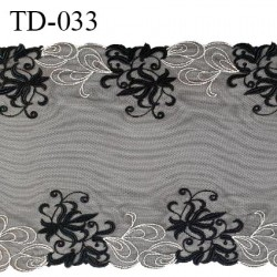 Dentelle broderie sur tulle 31 cm très haut de gamme largeur 31 cm couleur noir très belle prix pour 10 cm