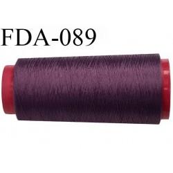 Cone 1000 m fil mousse polyamide n° 100/2 couleur prune violet  bobiné en France