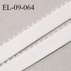 Elastique 9 mm bretelle et lingerie couleur ivoire largeur 9 mm haut de gamme Fabriqué en France prix au mètre