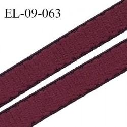 Elastique 9 mm bretelle et lingerie couleur bordeaux largeur 9 mm haut de gamme Fabriqué en France prix au mètre
