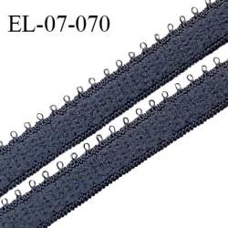 Elastique 7 mm bretelle et lingerie couleur brume largeur 7 mm haut de gamme Fabriqué en France prix au mètre
