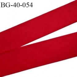 Biais à plat 40 mm à plier couleur rouge composition 65% polyester et 35 % coton largeur 40 mm prix au mètre