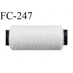 Bobine 500 m fil Polyester Coats épic fil n°120 couleur naturel longueur 500 m bobiné en France résistance à la cassure 1000 grs