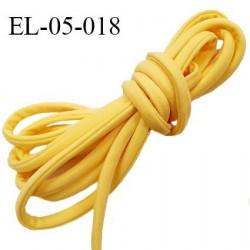 Cordon élastique 5 mm ou cache armature underwire casing galon couleur jaune mimosa lycra extensible diamètre 5 mm prix au mètre
