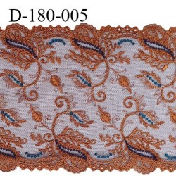 Dentelle broderie sur tulle 18 cm très haut de gamme largeur 18 cm couleur nuit ambre très belle prix pour un mètre
