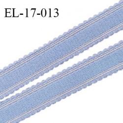 Elastique 17 mm bretelle et lingerie couleur bleu ciel fabriqué en France pour une grande marque largeur 17 mm prix au mètre