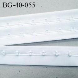 Bande Agrafe de 43 mm de hauteur et 2 rangés pour soutien gorge couleur blanc fabriqué en France prix au mètre