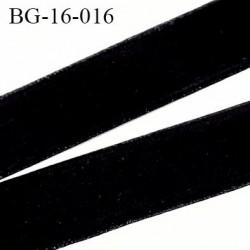 Galon ruban  velours 16 mm  très doux couleur noir  belle épaisseur largeur 16 mm prix au mètre