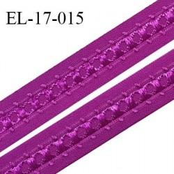 Elastique 16 mm bretelle et lingerie couleur fuschia fabriqué en France pour une grande marque largeur 16 mm prix au mètre