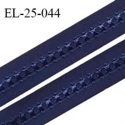 Elastique 24 mm bretelle et lingerie couleur bleu nuit fabriqué en France pour une grande marque largeur 24 mm prix au mètre