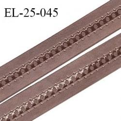 Elastique 24 mm bretelle et lingerie couleur macchiato fabriqué en France pour une grande marque largeur 24 mm prix au mètre