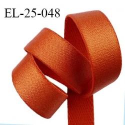 Elastique 24 mm bretelle et lingerie couleur orange cuivré brillant fabriqué en France pour une grande marque prix au mètre