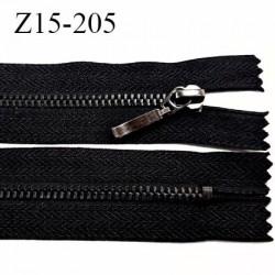 Fermeture 15 cm couleur noir non séparable zip glissière en métal couleur acier anthracite largeur 2,8 cm largeur du zip 4.4 mm