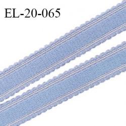 Elastique 20 mm bretelle et lingerie couleur bleu ciel fabriqué en France pour une grande marque largeur 20 mm prix au mètre