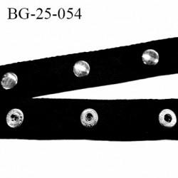 Galon bande pression 25 mm en coton souple et très solide couleur noir largeur 25 mm prix au mètre 21 pressions sur 1 mètre