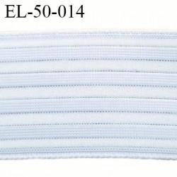 Elastique 50 mm très belle qualité ajouré pour respiré couleur naturel  et gris rigide sur la largeur souple  prix au mètre
