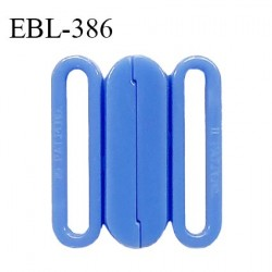 Boucle clip 15 mm attache réglette pvc spécial maillot de bain couleur bleu myosotis haut de gamme prix à l'unité