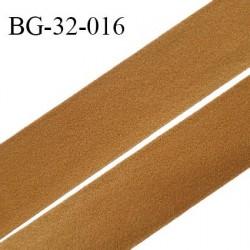 Droit fil à plat 32 mm spécial lingerie et prêt à porter couleur havane style velours fabriqué en France prix au mètre