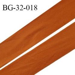 Droit fil à plat 32 mm spécial lingerie et prêt à porter couleur orange cuivrée style duveteux fabriqué en France prix au mètre