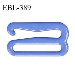 Crochet 18 mm de réglage bretelle soutien gorge en métal laqué couleur bleu myosotis brillant prix à l'unité