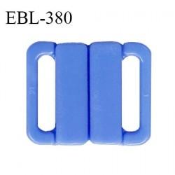 Boucle clip 16 mm attache réglette pvc spécial maillot de bain couleur bleu myosotis haut de gamme prix à l'unité