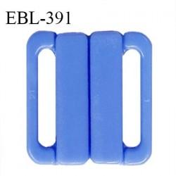Boucle clip 25 mm attache réglette pvc spécial maillot de bain couleur bleu myosotis haut de gamme prix à l'unité