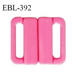Boucle clip 16 mm attache réglette pvc spécial maillot de bain couleur rose haut de gamme prix à l'unité