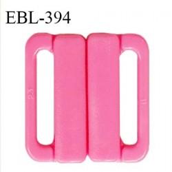 Boucle clip 25 mm attache réglette pvc spécial maillot de bain couleur rose haut de gamme prix à l'unité