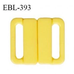 Boucle clip 16 mm attache réglette pvc spécial maillot de bain couleur jaune haut de gamme prix à l'unité
