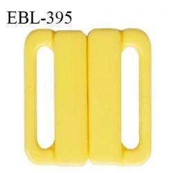 Boucle clip 25 mm attache réglette pvc spécial maillot de bain couleur jaune haut de gamme prix à l'unité