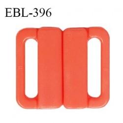 Boucle clip 16 mm attache réglette pvc spécial maillot de bain couleur orange nectarine haut de gamme prix à l'unité