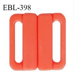 Boucle clip 25 mm attache réglette pvc spécial maillot de bain couleur orange nectarine haut de gamme prix à l'unité