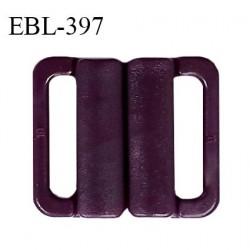 Boucle clip 16 mm attache réglette pvc spécial maillot de bain couleur pourpre haut de gamme prix à l'unité