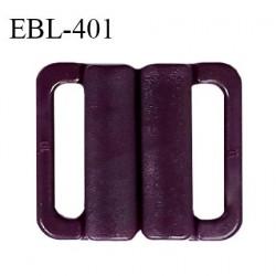 Boucle clip 20 mm attache réglette pvc spécial maillot de bain couleur pourpre haut de gamme prix à l'unité