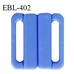 Boucle clip 30 mm attache réglette pvc spécial maillot de bain couleur bleu myosotis haut de gamme prix à l'unitév